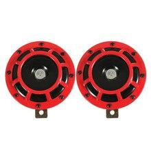 Supertone duplo carro grade chifre (par) 12v 139db para subaru impreza wrx evo novo (vermelho/preto)