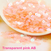 4000pcs/lot (30g) Trans. pink  AB color 4mm Flat round loose sequins Paillettes sewing Wedding craft Good quality Free Shipping