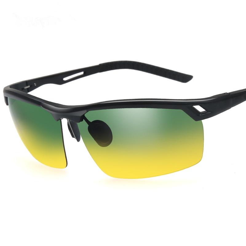 4fbca0dd9d Comprar Gafas de sol polarizadas HD de aluminio y magnesio de media montura para  hombres y mujeres de moda de 2018 Online Baratos