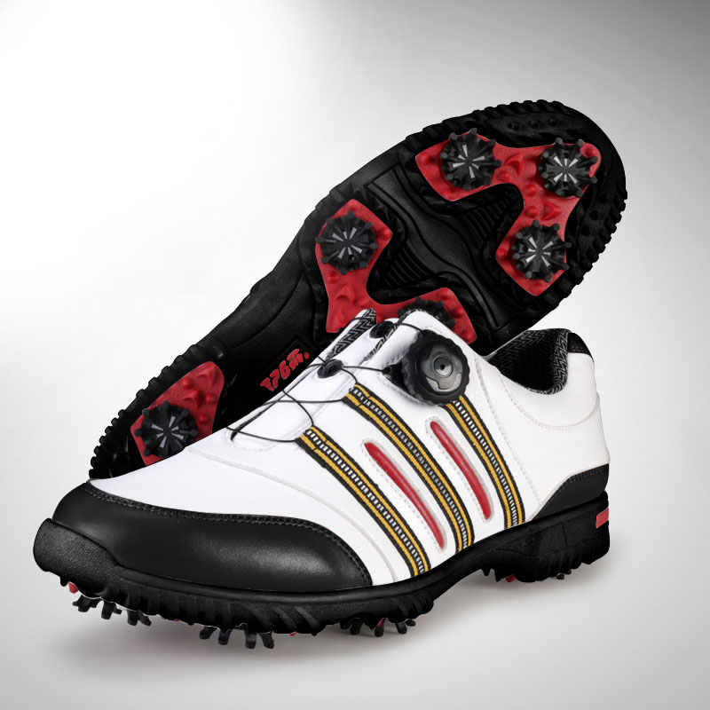 PGM Patent Golf Shoes Mens Leather Shoes Laces Send Activities Nail Automatic Revolving Spikes