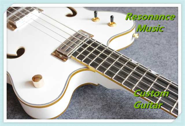 New Arrival Hot Selling G6136LSB White Falcon Bass Guitar with Gold Binding Custom Available