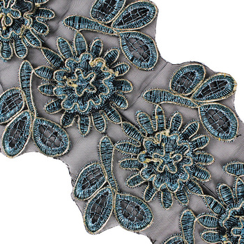 2 yards 3D Blumenmuster Spitze Ribbon Trim Applique Kabel Guipure ...