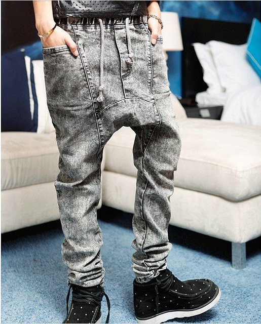 free shipping 2012 new stylish fashion harem pants for men hip hop baggy snow jeans ,M,L,XL NK417