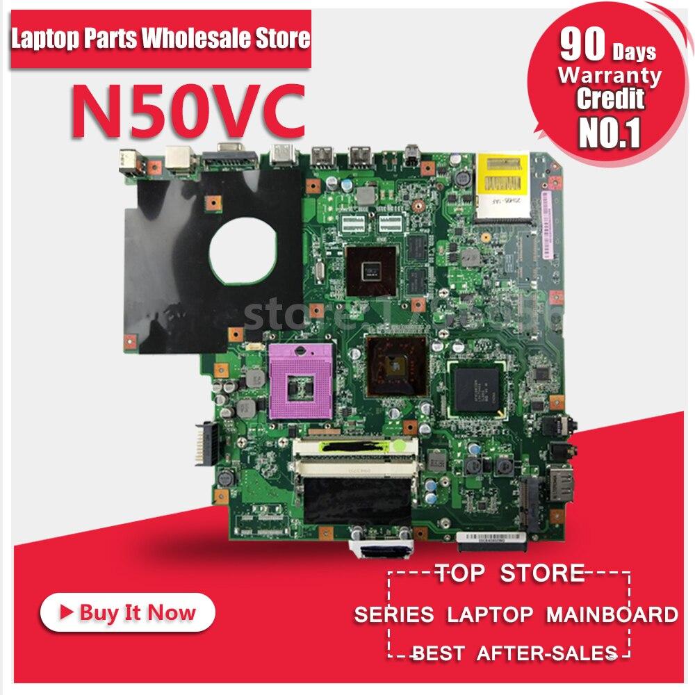 Laptop Motherboard For ASUS N50VC N50VN N50V 4 Memory System Board Main Board Mainboard Card Logic Board Tested Well laptop mainboard for ibm thinkpad t420 motherboard 63y1967 system board 100% tested ok