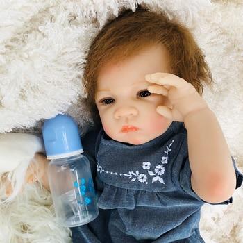 OtardDolls Bebe Reborn Dolls 20inch 50CM Soft Vinyl Silicon Reborn Baby Doll Cute Doll Bonecas Toy for Children Birthday Gift