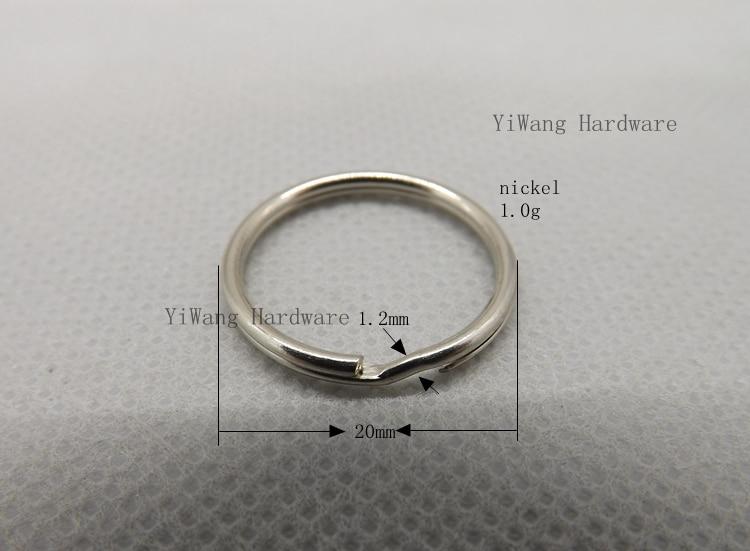 100 шт./лот 20 мм никелированный металлический брелок оптовая