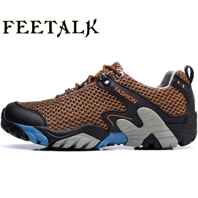 406e32539de Hot Hiking Boots Men Outdoor Spring Summer Leather Hiking Shoes Big Size Trekking  Boots Breathable Mountain Climbing Shoes