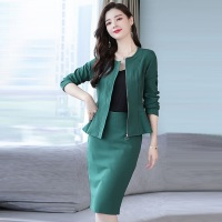Womens Suits Set 2 Pieces With Skirt 2018 New Fashion Elegant Office Skirt Suits Two Piece Set Women Ruffle Blazer Skirts Suit