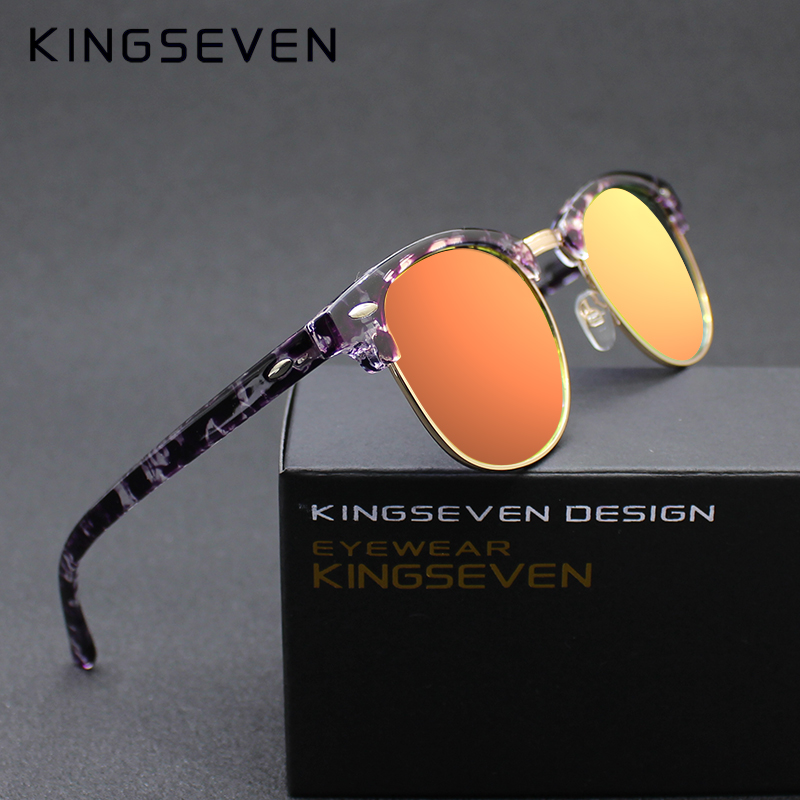 334db97dd3 Kingseven Hot 2015 Fashion Men s UV400 Polarized Coating Sunglasses men  Driving mirror Women Sun Glasses for Men with Case P3016-in Sunglasses from  Women s ...