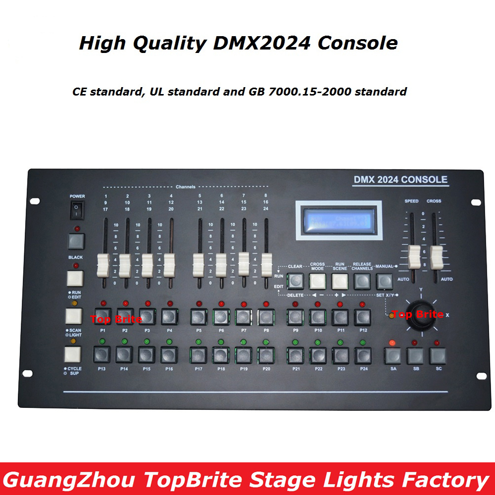 2017 New DMX 2024 Controller DMX 512 Stage Light Console DMX Lighting Controller LCD Display For LED Par Moving Head Beam Lights 2pcs high quality 512 dmx console stage light equipment 192 dmx controller for stage lighting led par beam lights page 3