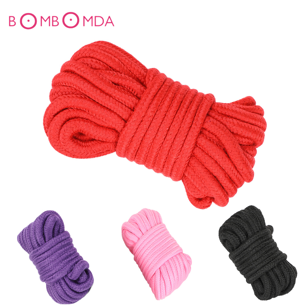 5/10M Bondage Rope Long Thick Cotton Bdsm Body Tied Ropes SM Slave Game Restraint Products Adult Sex Toys For Men Woman Couples