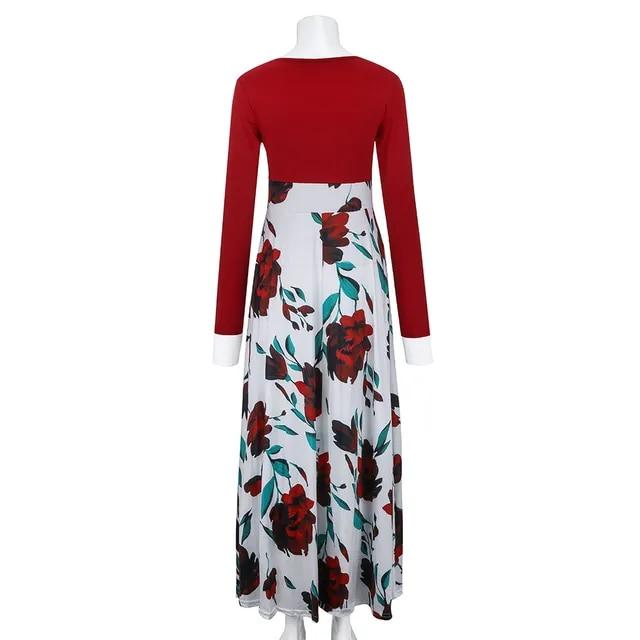JAYCOSIN Women Fashion Long Sleeve Womens Dresses New Arrival 2019 Floral Boho Print Long Maxi Dress Ladies Casual Dress