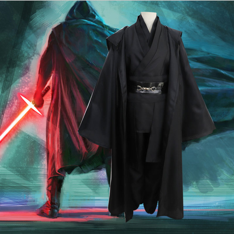 Image 2 - Star Wars Cosplay Anakin Skywalker Replica Jedi Robe Halloween Fantasia Male Cosplay Jedi Costume Black For Men Plus Size 3XLMovie & TV costumes   -