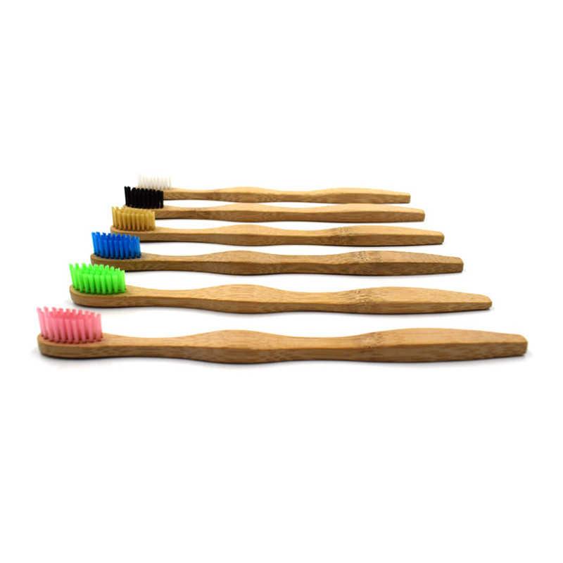 1pcs אוראלי טיפול ראש במבוק מברשת שיניים סיטונאי סביבת עץ קשת במבוק שן מברשת רך זיפי למבוגרים