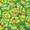 105X100cm Green Jigsaw Puzzle Ninja Turtles Cotton Fabric For Baby Boy Clothes Hometextile Patchwork DIY AFCK406