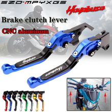 Motorcycle new CNC brake lever clutch handle for Suzuki HAYABUSA / GSXR1300 1999 -2006 collapsible telescopic brake clutch lever цена 2017