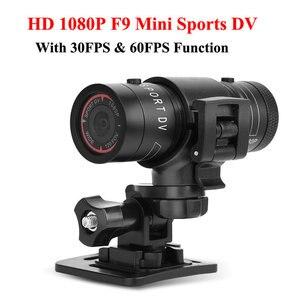 Спортивная мини-камера F9 HD 1080P видеокамера 3MP велосипедный шлем видеорегистратор DV DVR Водонепроницаемая Экшн-камера наружная микро велосипе...