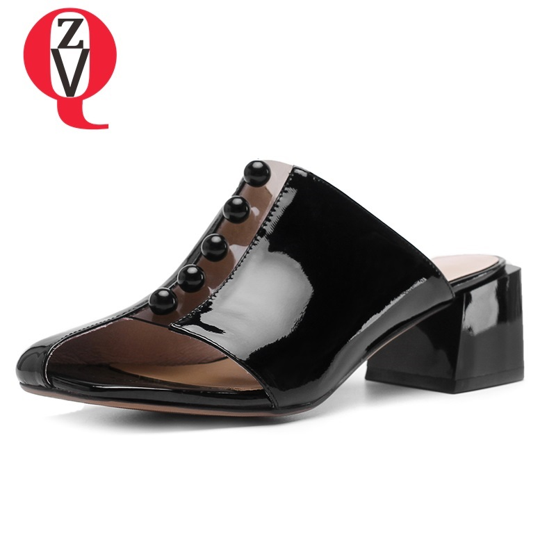 Donna Black Fashion White Zvq Più Scarpe Rivetto Med Estate Square WEIYD29eH