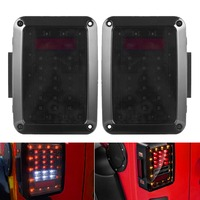 US Standard Auto LED Tail Lights For 07 16 Jeep Wrangler JK With Break Back Up Light Reverse Turn Parking Signal Lamp Assembly