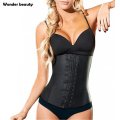 Latex Waist Trainer Corset Plus Size Steel Bone Workout Waist Cincher Women Slim Body Shaper Girdles Corsets