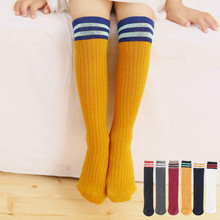 Kids Pure Cotton Knee Socks For Boys Girls Children High Quality Football Sports Stocking In 5,6,7,8,9,10,11,14 Years Old