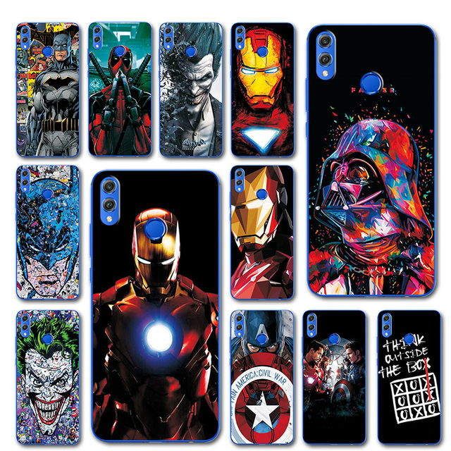 US $0 7 40% OFF The Avengers Captain America Phone Case For huawei honor 8x  Silicone Bumper Y9 2018 Unique Cover For Huawei Y9 2019 Y 9 2019-in Fitted