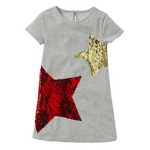 Summer Girl Dress 2018 New Change Color Sequin Children Clothing Embroidery Girls Costume Party Dresses For Kids Cotton Clothes недорого