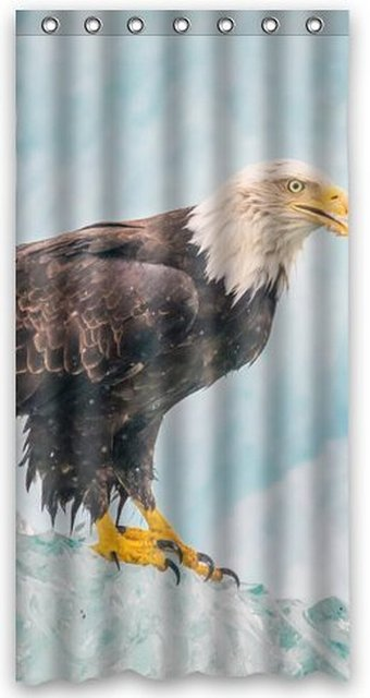Outlet Seller Custom Magnificent Eagle Shower Curtain 36wX72h Inch