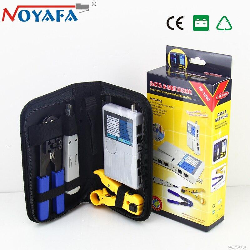 Noyafa Nf-1202 4in1 Attrezzo Di Piegatura Rj45 Wire Tracker Diagnosticare I Toni Finder Kit Corsia Di Cavo Di Rete Tester Rede Originale Cornici E Articoli Da Esposizione Ottima Qualità