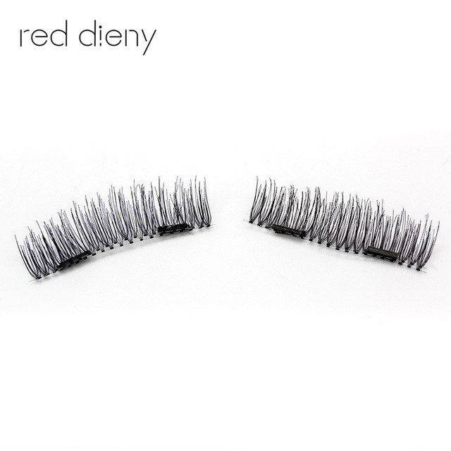 4pc 3d Double Magnetic False Fake Eyelashes Easy To Wear Extension