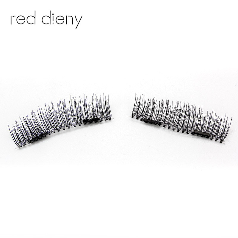 4pc 3d Double Magnetic False Fake Eyelashes Easy To Wear Extension Magnetic Eyelashes Makeup Soft Hair False Eyelashes free ship