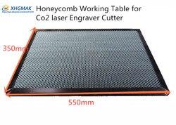 350*550mm blat stołu o strukturze plastra miodu CO2 50W 60W maszyna do laserowego cięcia i grawerowania rur Shenhui SH 350 550x350mm w Prowadnice liniowe od Majsterkowanie na