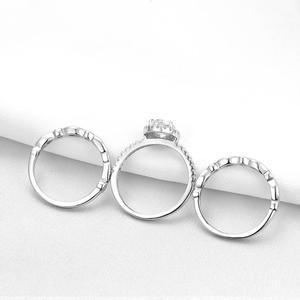 Image 5 - Newshe מוצק 925 כסף חתונת טבעת אירוסין סט לנשים סגלגל צורת AAA זירקונים אמנות דקו להקות תכשיטים קלאסיים