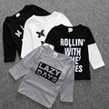 2017 Baby Boy Camiseta Cruzada de Marca Ropa de Los Niños Del Niño niños Ropa Niños Camisetas Chico Tees Infantil Roupa Meninos Camisetas