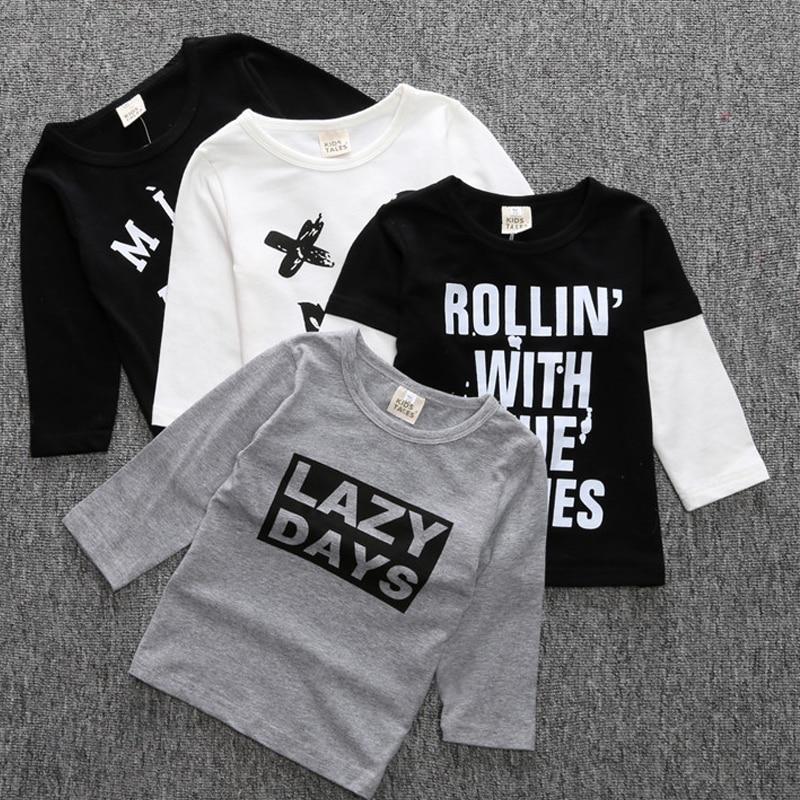 2017 Baby Boy T Shirt Cross Kids Clothes Brand Toddler