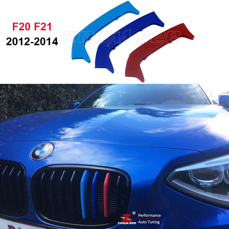 3D Front Grille Trim Plastic Strips grill Cover Stickers For 2012-2014 BMW 1 series F20 F21 M Sport 116i 118i 120i 125i M135i f20 abs grill front bumper hood grille for bmw f21 2010 2014 page 8