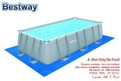 58264 الرول الصغيرة 5 متر x 3 متر ماتريس 197 x 118 القماش الأرض توفير حماية إضافية إلى الجزء السفلي من السباحة فوق الأرض لا تجمع
