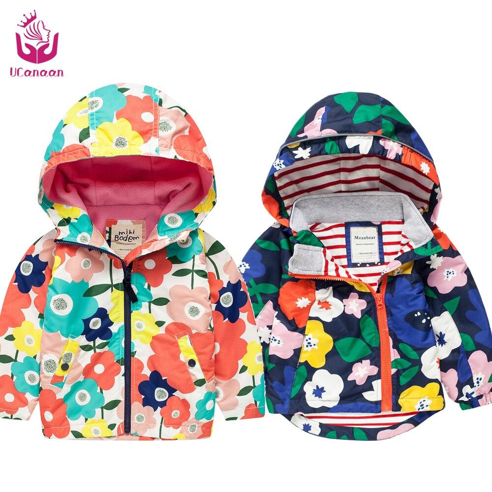 Ucanaan/Весна Новый 2017 для маленьких девочек и Куртка для мальчиков (2-7) лет модный стиль для детей с капюшоном костюм многоцветная Outerware