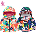 Ucanaan spring  New 2017 baby girls&boys  jacket(2-7) years old fashion style for children  Hooded suit multicolor outerware