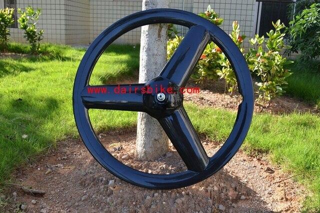 Livraison gratuite roues en carbone 3 rayons roues de vélo engrenage fixe 3 rayons roues de vélo