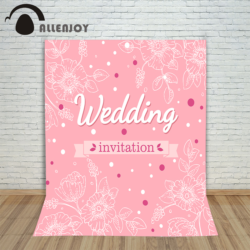 Allenjoy photography background Pink flower backgrounds Valentine Photocall for weddings custom backgrounds for photo studio цена