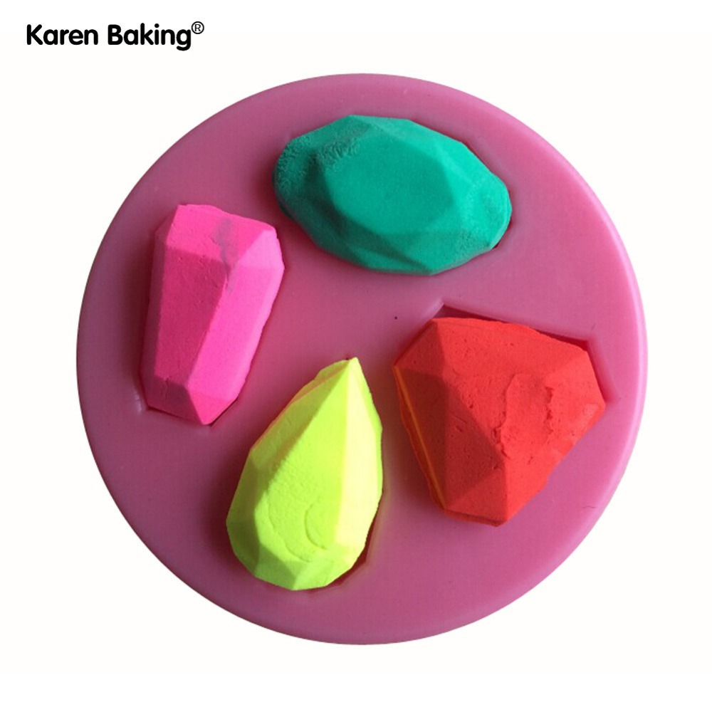 Sticking Cake Decorations On Fondant : Charming Different Diamond Shape Silicone 3D Mold Cookware ...