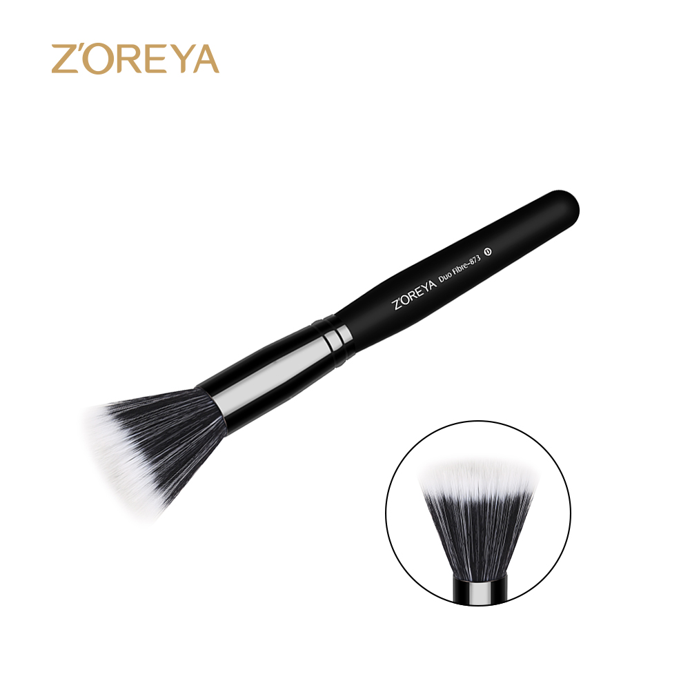 Bristle Duo Fiber Makeup Brush Full Size Skin Care Used With Powder Blush Contour Make Up Brushes Cosmetic Tool Maquiagem new portable flat contour makeup brush used with powder blusher concealer make up brushes as beauty cosmetic tool maquiagem