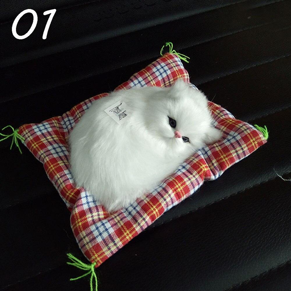 цена на Cute Cat Decoration Mini Cat Plush Toys Realistic Cat Will Make A Sound Children's Toys Baby Doll Christmas Gift Reborn Doll Cat