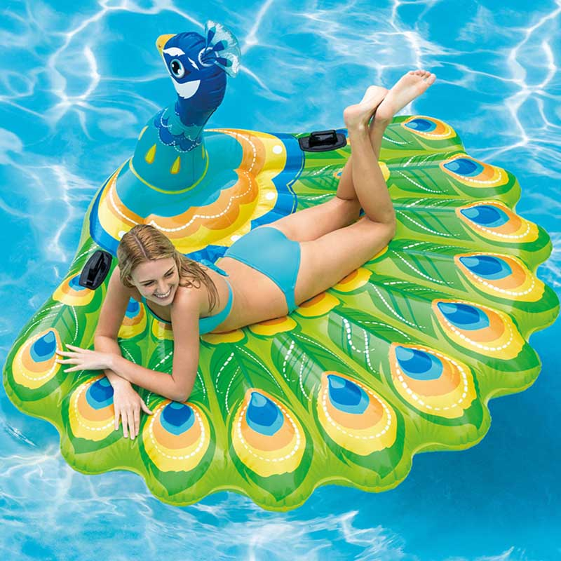 Inflatable Peacock Unicorn Swimming Pool Float Mattress Intex Zwembad Boat For Adult Children Water Party Toys Lounger Boia цена и фото