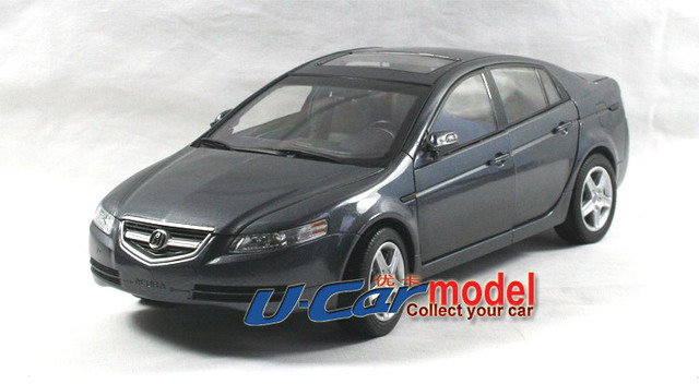1pcs 1 18 Acura Tl 2006 Cast Car Model Grey On