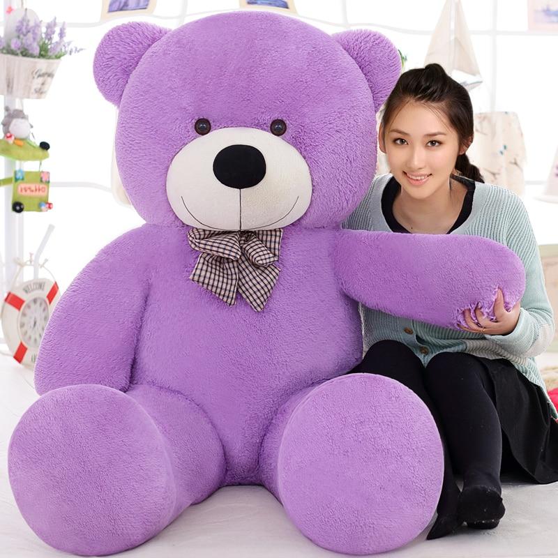 Nəhəng Teddy ayı 160sm böyük doldurulmuş oyuncaqlar heyvanlar təmtəraqlı həyat ölçüsü uşaq uşaq körpə bebek ucuz sevgilisi oyuncaq valentine hədiyyə