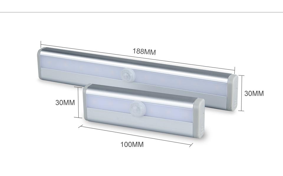 LED Emergency Lighting Light PIR Motion Sensor Lamp 610 LEDs lighting for Wardrobe Cupboard Closet Kitchen night light (4)