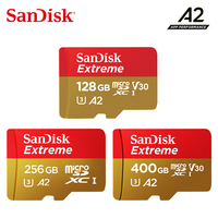 2019 New SanDisk Extreme UHS I memory card 400G 256G 128G Up to 160MB/s read speed micro sd card video speed C10, V30, U3, A2