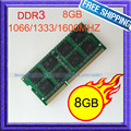 NEW 8GB DDR3 1066Mhz / 1333Mhz / 1600Mhz SODIMM 204-Pin 8G Memory ddr3 Laptop PC3 8500 10600 12800 Notebook RAM Fully Tested